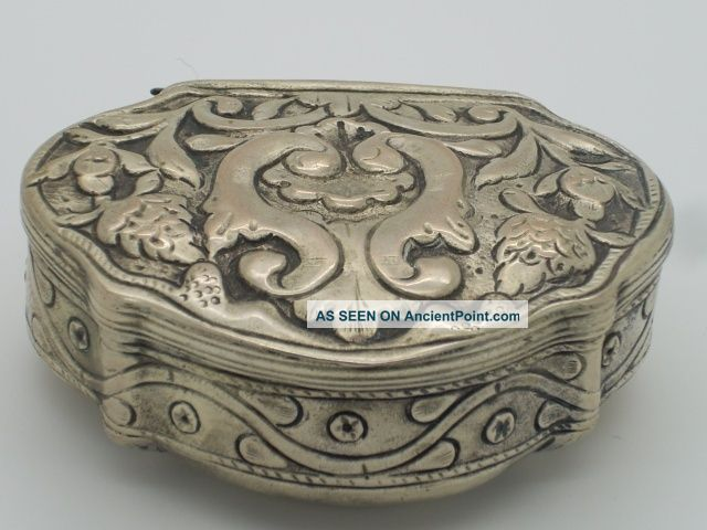 Antique Silver Tobacco Box 19th Century Other photo
