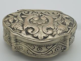 Antique Silver Tobacco Box 19th Century photo