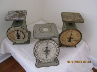 Antique Kitchen Scales (qty 3) photo