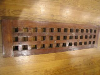 Vintage Teak Hatch Cover Or Grating - Ship Salvaged - Great For Outdoors photo
