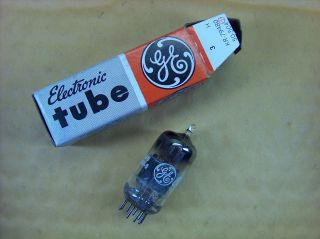 Vtg Ge Vacuum Electron Tube 12av7 Ham Radio Tv Cb Amp Phono Made In Usa Nos photo