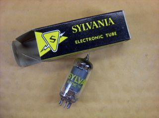 Vtg Sylvania Electron Vacuum 12cs6 Ham Radio Cb Amp Phono Tube Made In Usa Nos photo