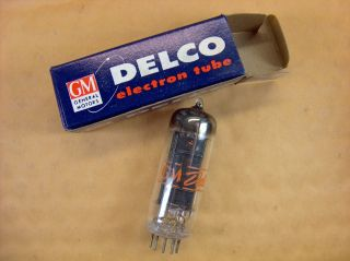 Vtg Gm - Delco Electron Vacuum 12dk7 Ham Radio Cb Amp Phono Tube Made In Usa Nos photo