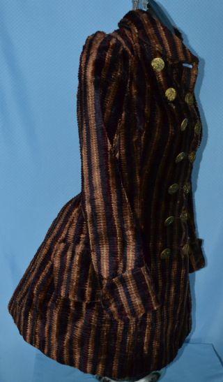 Rare Antique 1800 ' S Victorian Chenille Bustle Dress Jacket Paris Button Quilted photo