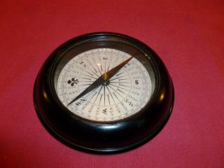 A Large Vintage Ship Desk Compass photo
