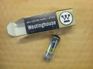 Vtg Westinghouse Electron Vacuum 6bf6 Ham Radio Tv Cb Amp Phono Tube Usa Nos photo