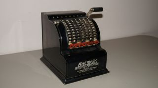 Vintage American Adding Machine Model Five 5 No.  62951 American Can Company photo