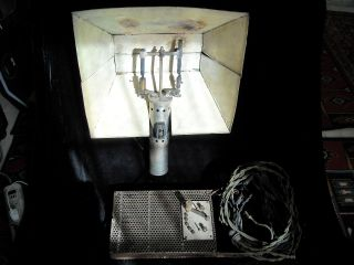 Old Antique Carbon Arc Flood Movie Lamp Light Hollywood Industrial Steam Punk photo