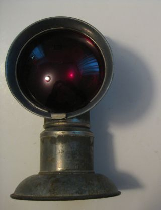 Nos Antique Dewar Carbide Tip Lamp Underground Mining Railroad Red Lens Lantern photo