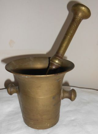 Metal Solid Brass Mortar And Pestle Grinder photo