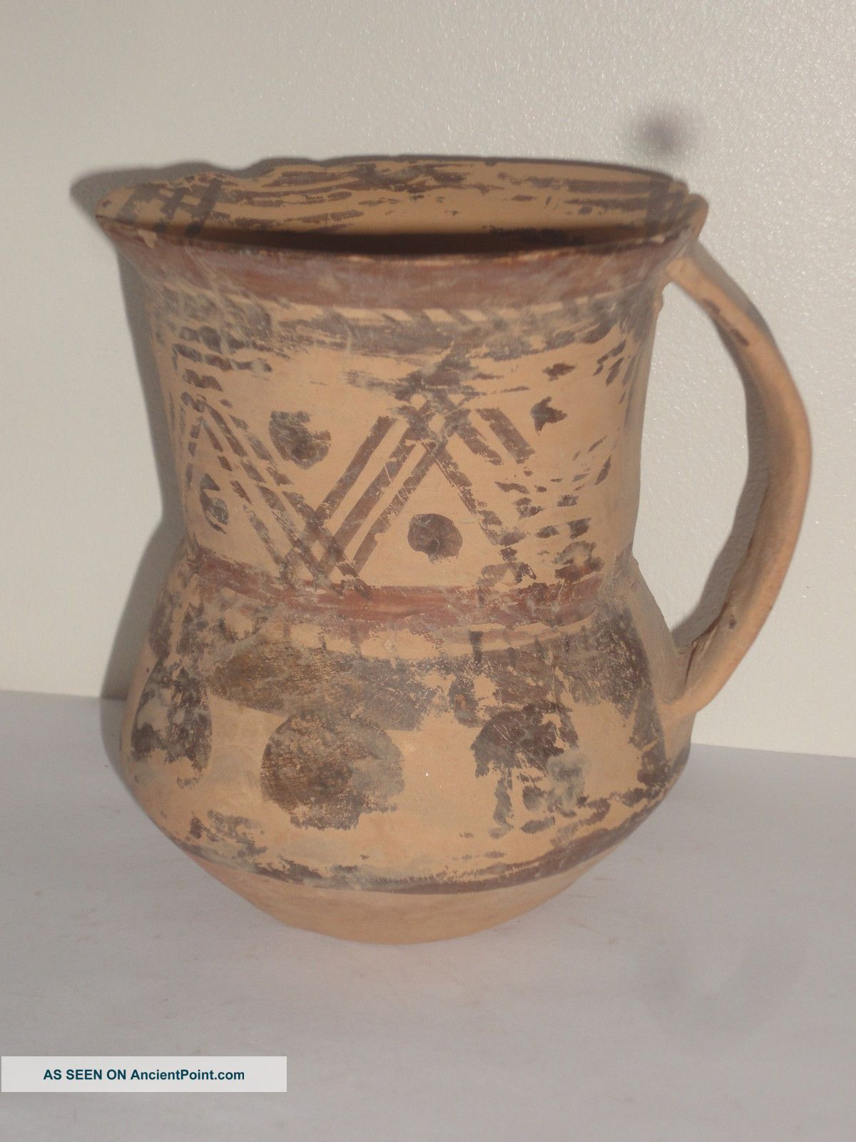 Near Eastern / Greek Antiquity Pottery Pot Jug Vase Black Painted Bronze Age Near Eastern photo