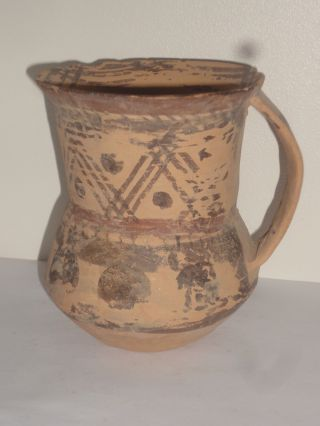 Near Eastern / Greek Antiquity Pottery Pot Jug Vase Black Painted Bronze Age photo