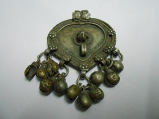 Antique Indo Persian Ottoman Turkish Muslim Islamic Tribal Gypsy Nomadic Pendant photo