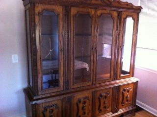 Large China Cabinet With Cupboards photo