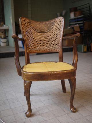 Vintage Antique Art Deco Chair 1940 ' S 50 ' S Central Europe photo