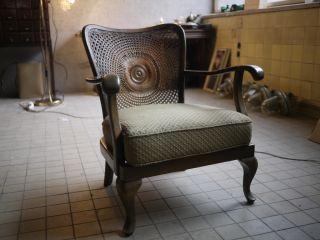 Vintage Antique Art Deco Lounge Chair 1940 ' S 50 ' S Central Europe Bent Wood photo