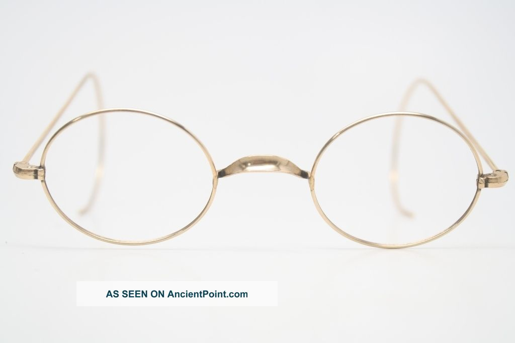 Diy Wire Frame Glasses : Glasses 1/10 12k Gold Oval Wire Rim Riding Temple Antique ...