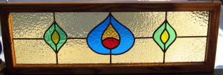 Transom Stained Glass Window Panel Edwardian Leaded photo