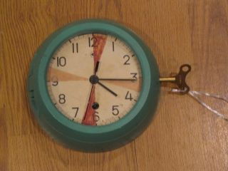 Vintage Green Ship Salvaged Russain Submarine/ Radio Room Clock - Great Gift photo