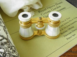 Exquisite Antique Opera Glasses Retailed By Lennie Opticians Of Edinburgh In Mop photo