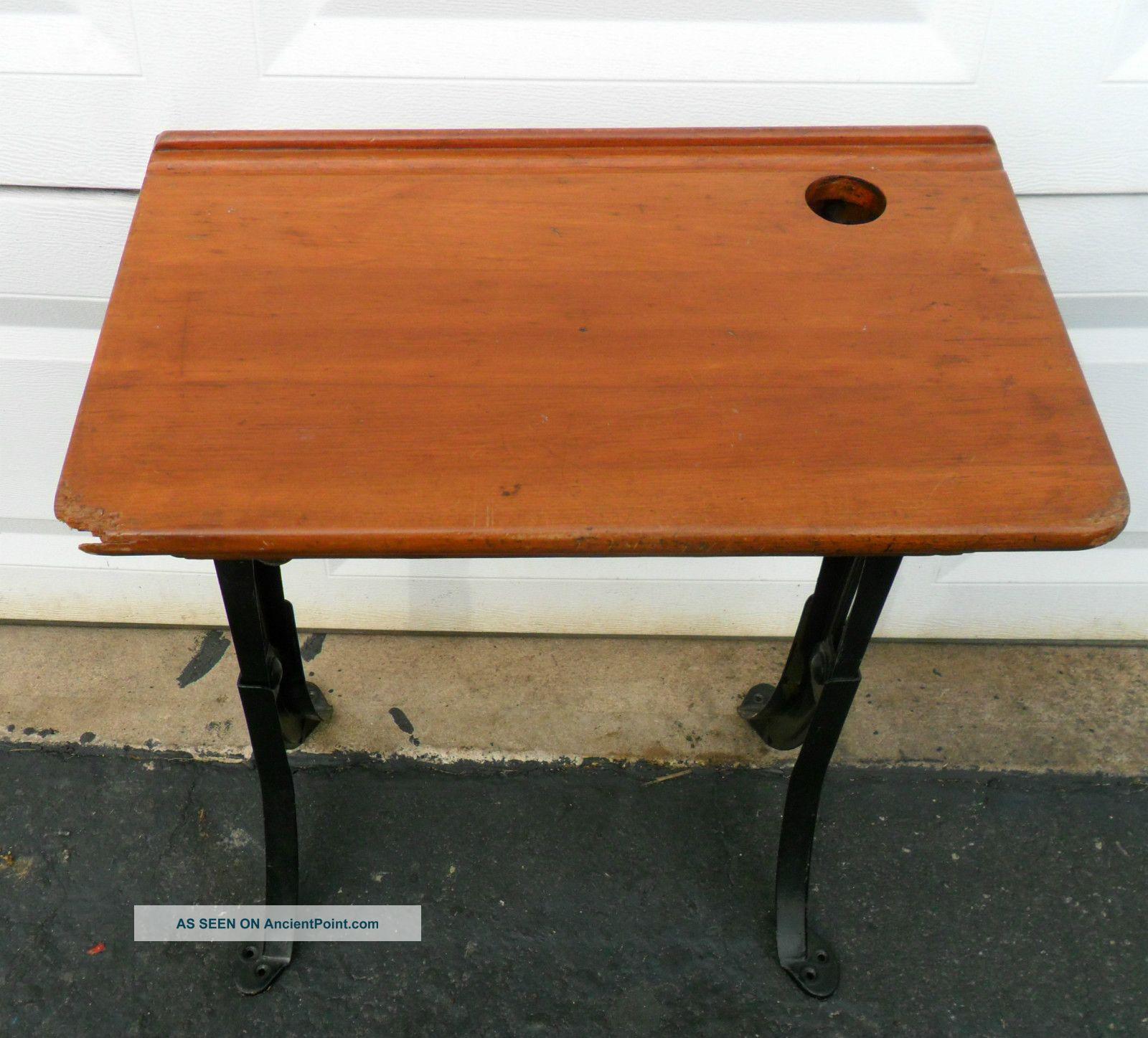 Antique Student Wood School Desks