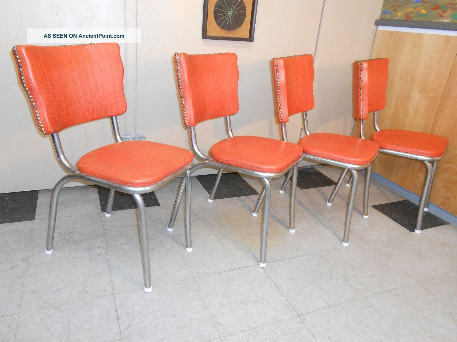 Retro Vinyl Chairs Vinyl Diner Chair Set of