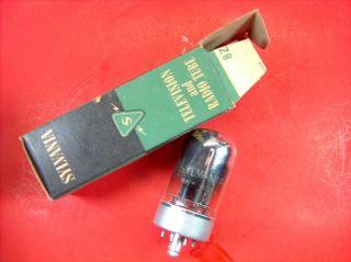 Vtg Sylvania Vacuum Electron Tube 7n7 Ham Radio Tv Cb Amp Made In Usa Nos photo