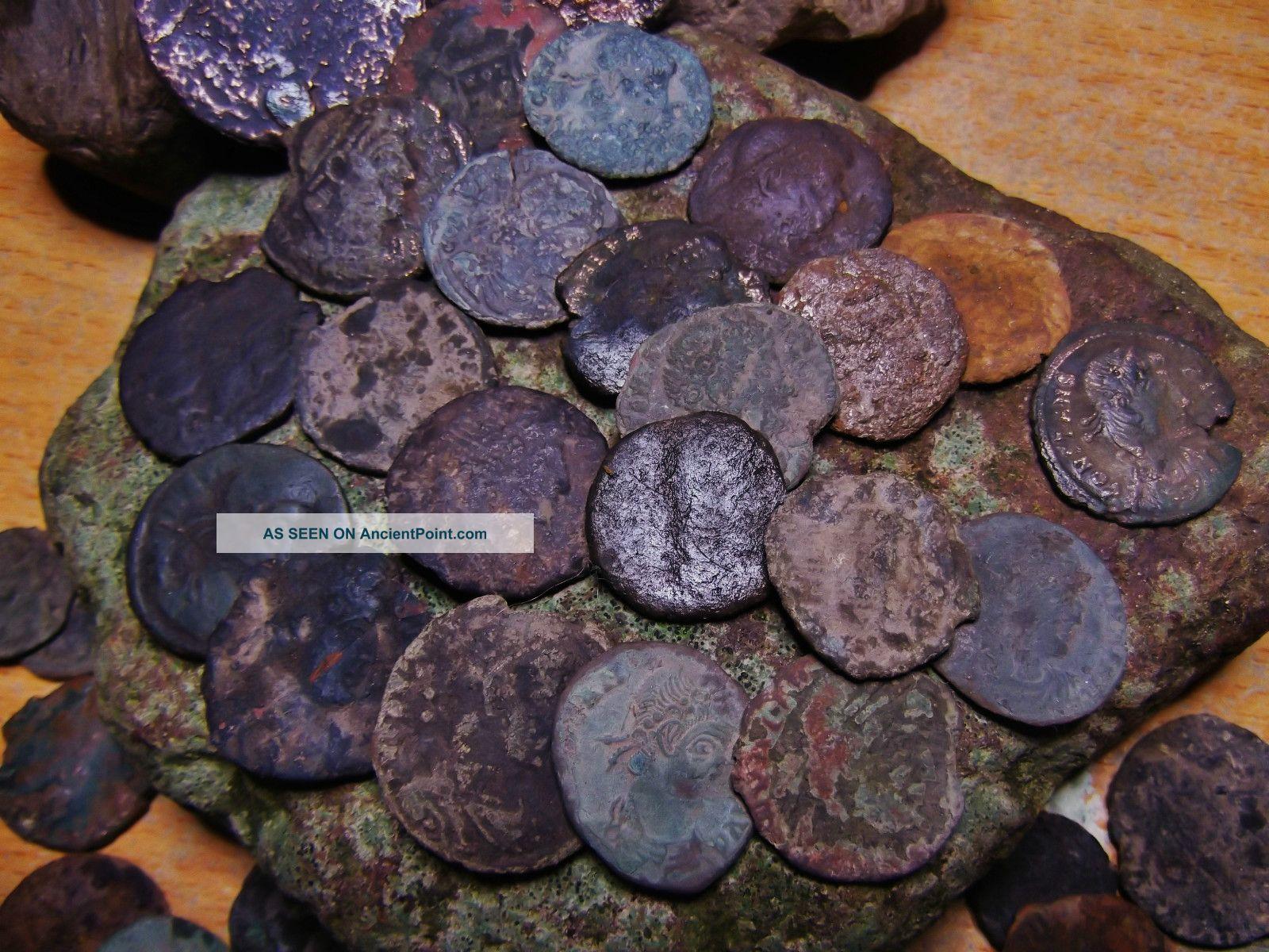 60 Ancient Roman Coins, Ae3 & Ae4, Bronze/copper, Sell As