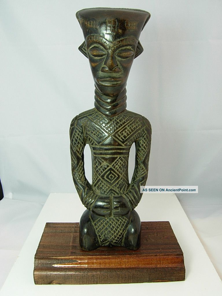 Spectacular Dengese Queen Figure,  Drc Sculptures & Statues photo