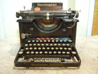 Antique Remington Standard Typewriter Number 12 photo