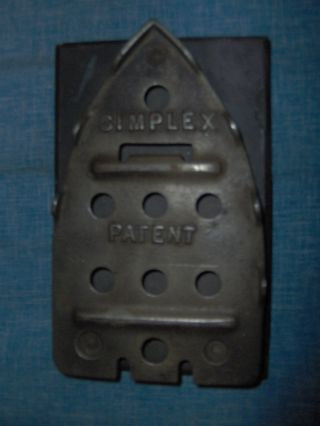 Simplex Patent Trivet For An Iron Antique Collectible photo