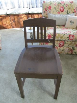 Antique Sikes Philadelphia Mission Style Chair,  Great Find photo