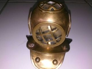 Us Navy Mark V 8 - Inch Brass Diving Helmet Replica photo