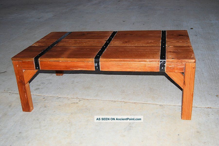 Reclaimed Wood Heart Pine Coffee Table Unknown photo
