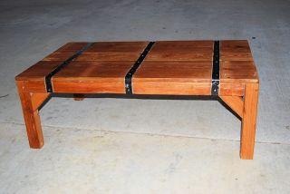 Reclaimed Wood Heart Pine Coffee Table photo