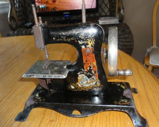 Antique Casige Child ' S Toy Sewing Machine photo