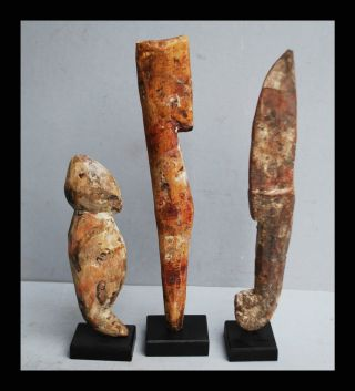 3 Graphic Altar Objects From The Adan Tribe Of Ghana photo