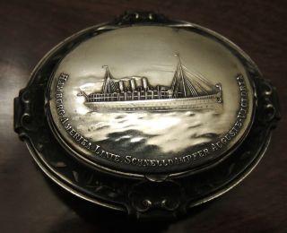 Cruise Ship Silver Box Cir 1901 photo