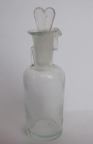 Antique German Drop Opium Anaesthesia Medical Beak Glass Bottle L - H 30ml Size 3 photo