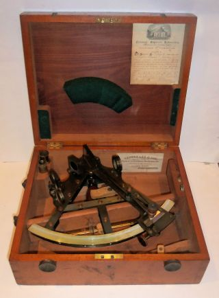 Double Frame Sextant - Troughton & Simms photo