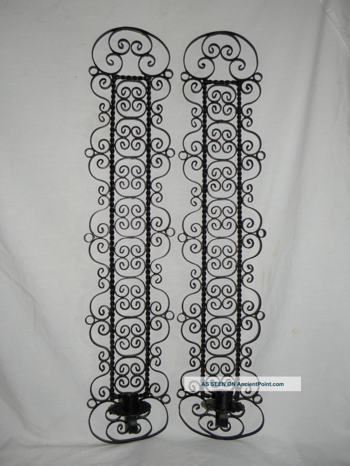 Wrought Iron Wall Sconce Candle Holder