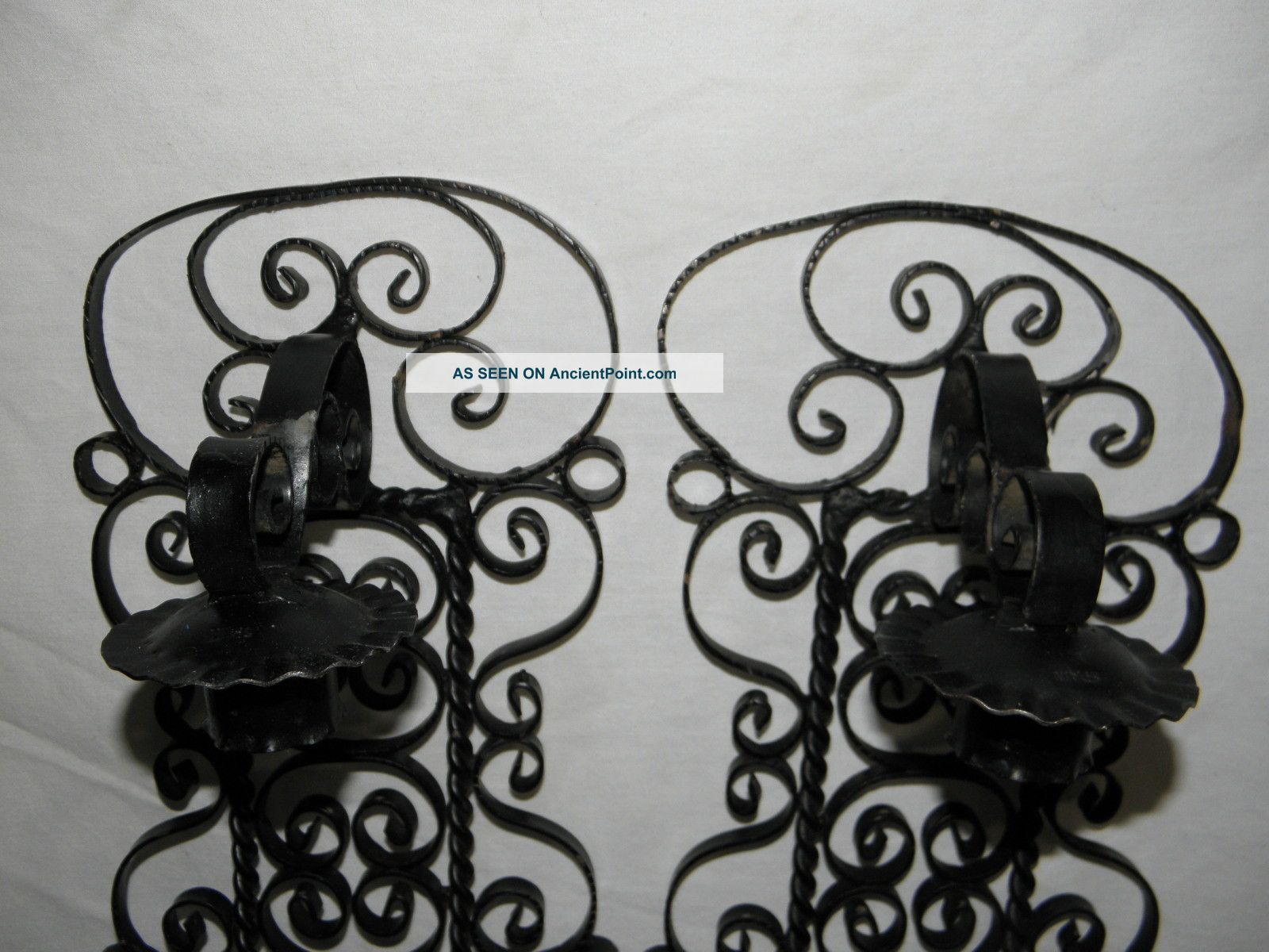 Huge 29 Wrought Iron Medieval Wall Sconce Gothic Spanish Revival Candle Holder