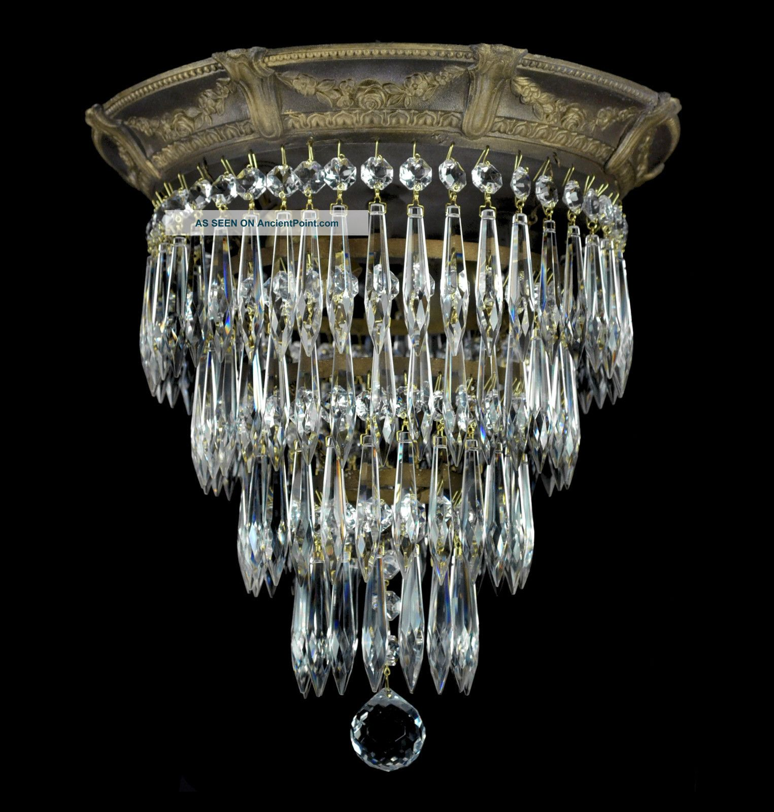 Antique wedding cake flush mounted crystal chandelier gold bronze antique wedding cake flush mounted crystal chandelier gold bronze finish light arubaitofo Choice Image