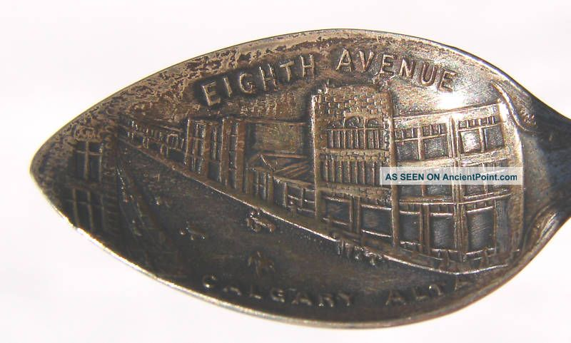Vintage 8th Ave Calgary Alberta Sterling Silver Spoon Canada photo