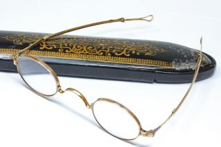 14k Gold Antique Eyeglasses W/ Case - 19th Century photo