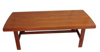 Vtg Sweden Midcentury Modern Teak Coffee Table Alberts Tibro 1950 ' S Danish Style photo