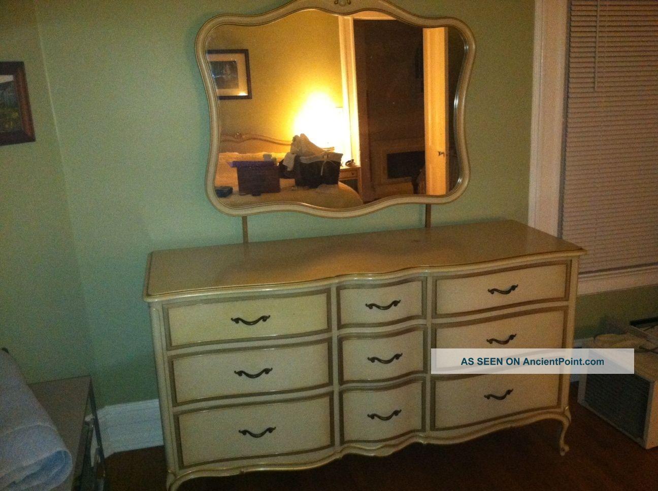 Vintage Drexel French Touraine Dresser & Mirror - Antique Drexel Furniture Antique Furniture