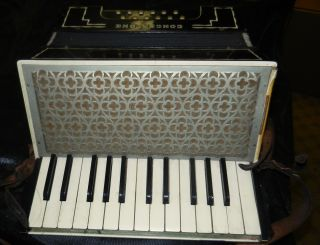 Antique German Concertone Accordion With Case photo