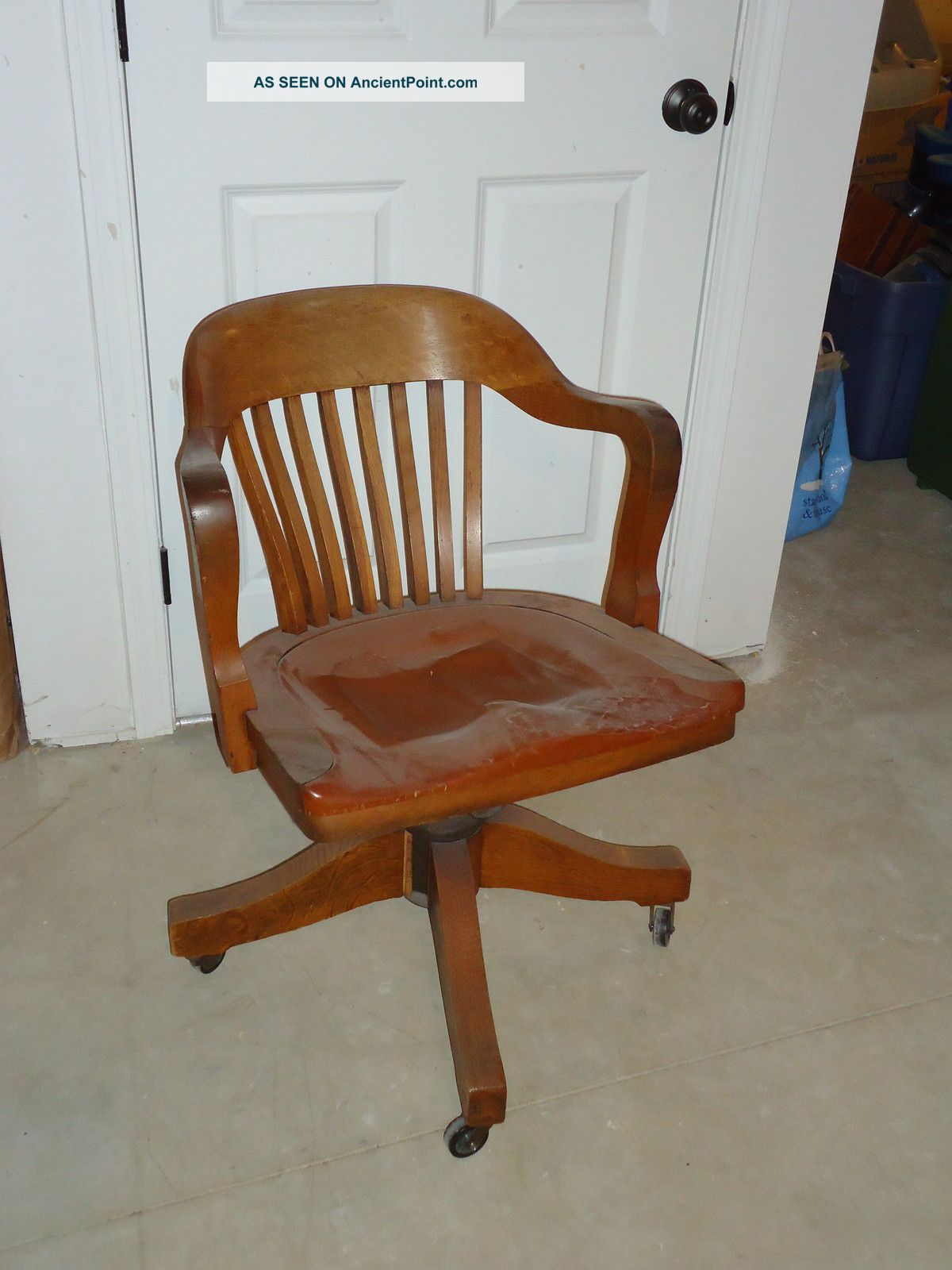 Vintage Johnson Chair Co. Chicago Usa Early 20th Century Court