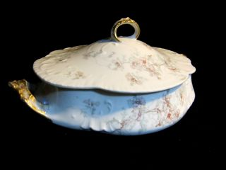 Rare Antique Victorian J P L Jean Pouyat Limoges Double Handled Covered Tureen photo